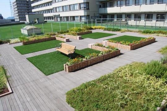 富山市民病院緩和ケア病棟屋上庭園05